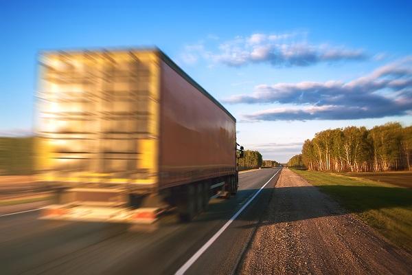 Semi truck driving at high speeds in Kentucky