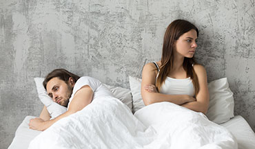Couple arguing over snoring