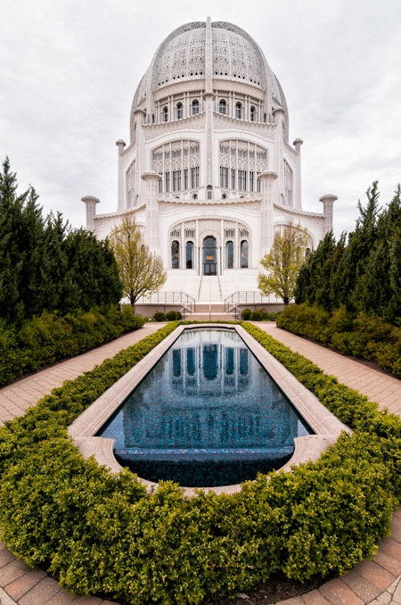 Baha'i House of Worship in Wilmette, Illinois