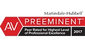 Logo for Martindale AV Preeminent Attorney Rating - James Kelleher