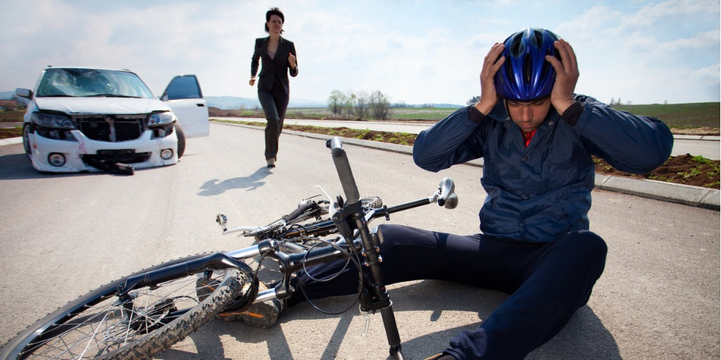 road-accident-car-and-bicycle-picture-id165888452