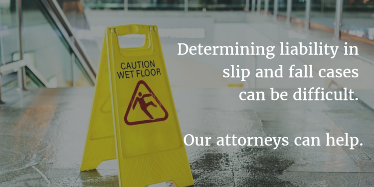 image on determining liability in slip and fall cases