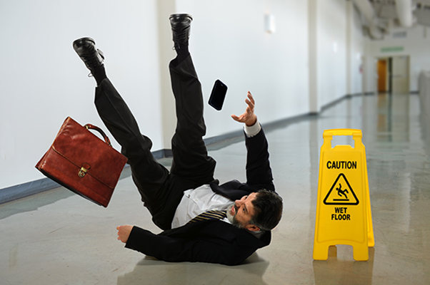 Business man suffers slip and fall accident in Naples, Florida