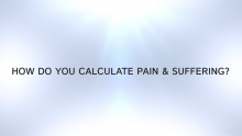 compensation for pain and suffering personal injury lawyer