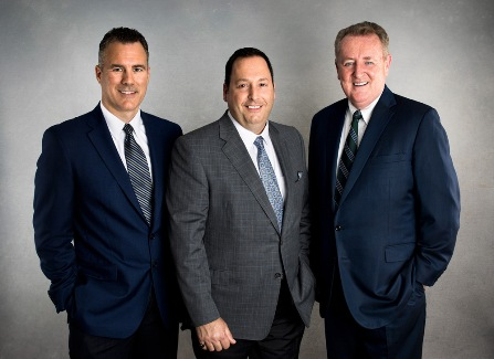 attorneys Ryan Kuhl, Frank Piazza, and Jim Kelleher at The Kelleher Firm