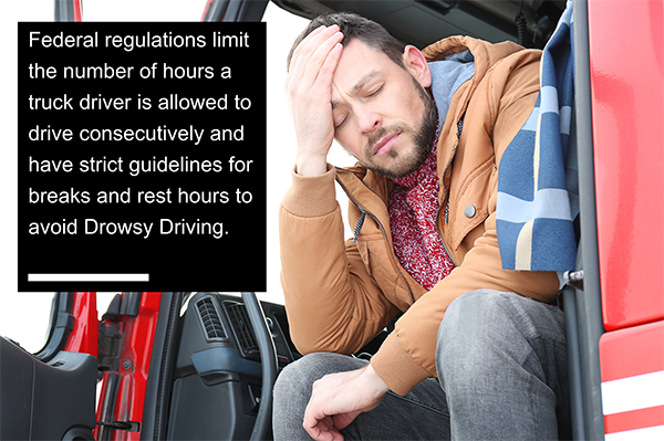 Graphic by Fort Myers attorneys explains truck driver regulations.