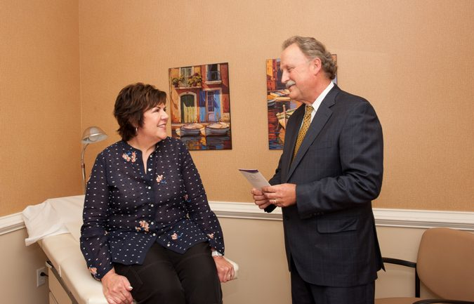 patient meeting with board-certified plastic surgeon Dr. Gary Wingate