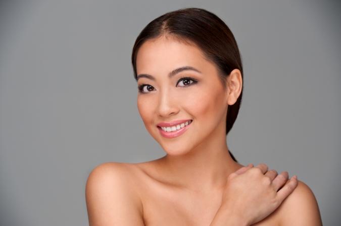 smiling Asian-American woman