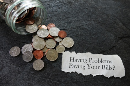 having problems paying your bills?