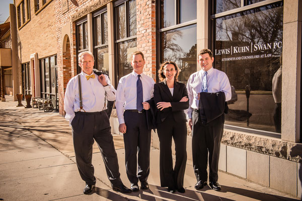 Lewis Kuhn Swan Law Firm - Attorneys in Front of Office in Colorado Springs