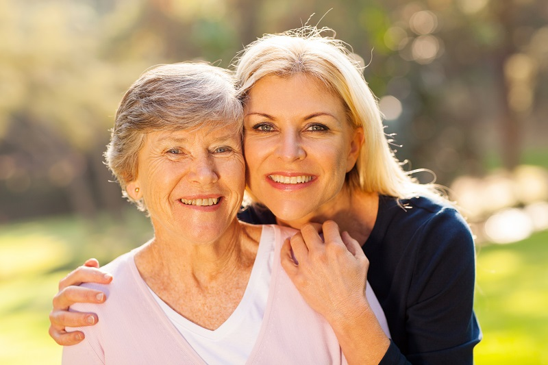 Woman acting as guardian and conservator for elderly mother