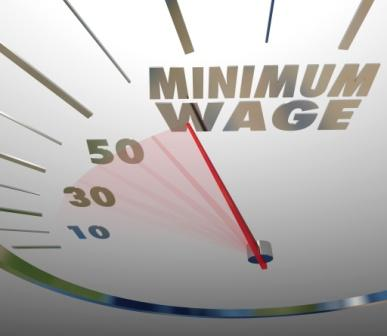 graphic illustrating minimum wage | wage-hour attorneys Colorado Springs