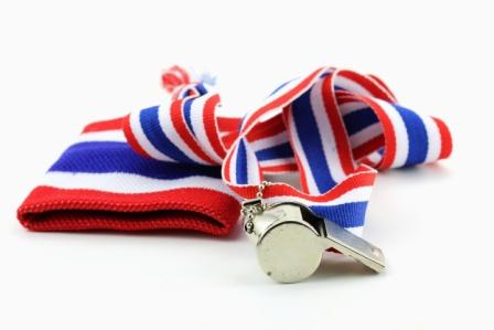 whistle with an American flag lanyard | False Claims Act lawyers Colorado Springs