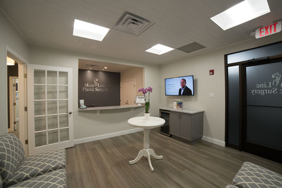 Reception Area - Main Line Plastic Surgery - Bryn Mawr, PA