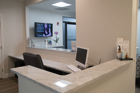 Reception Desk - Main Line Plastic Surgery - Bryn Mawr, PA
