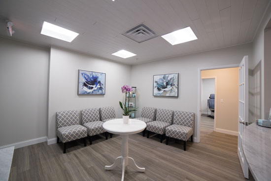 Reception Seating Area - Main Line Plastic Surgery - Philadelphia, PA