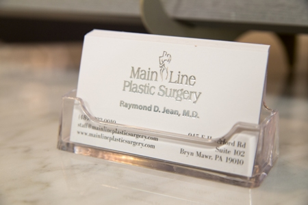 business card for Main Line Plastic Surgery