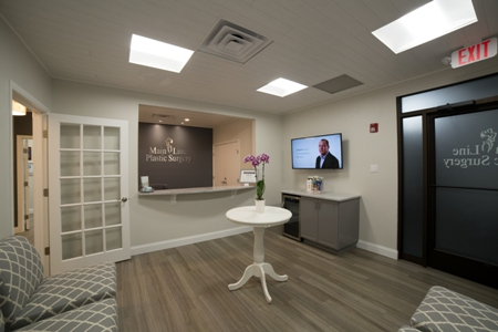 lobby and front desk of Main Line Plastic Surgery