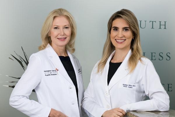 plastic surgeons Dr. Gloria Duda and Dr. Munique Maia