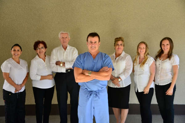Dr Jorge Montane and the Montane Dental Care team
