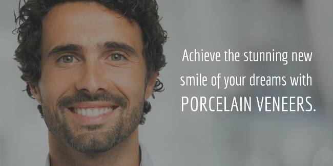 image describing the benefits of porcelain dental veneers