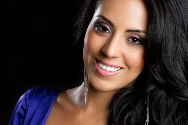 glamorous young woman smiling