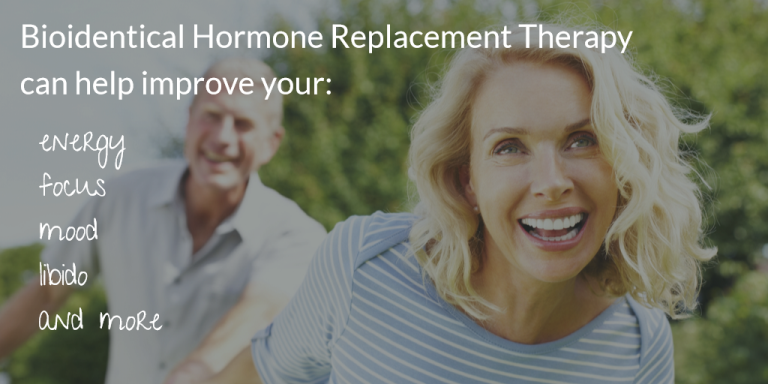 infographic explaining the benefits of bioidentical hormone replacement therapy