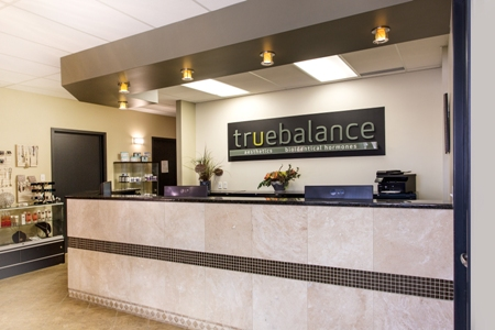 True Balance Longevity Institute front desk - Sherwood Park, Alberta