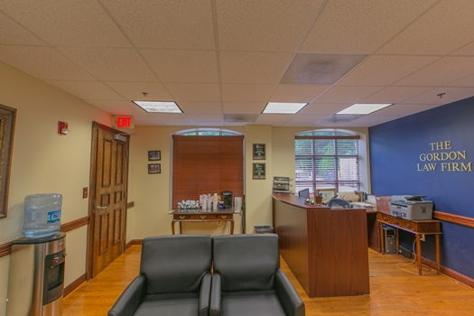 reception area of the Gordon Law Firm, PC