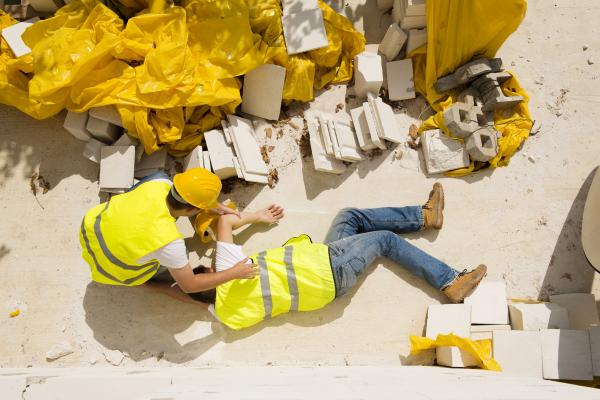 man injured in a construction accident