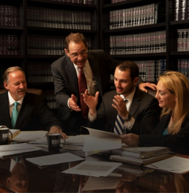 Johnson and Biscone lawyers preparing for a case