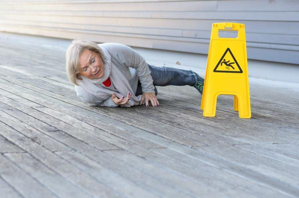 woman injured in a slip and fall accident