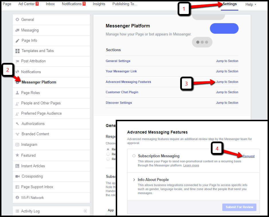 setting up facebook messenger chat plugin on your website