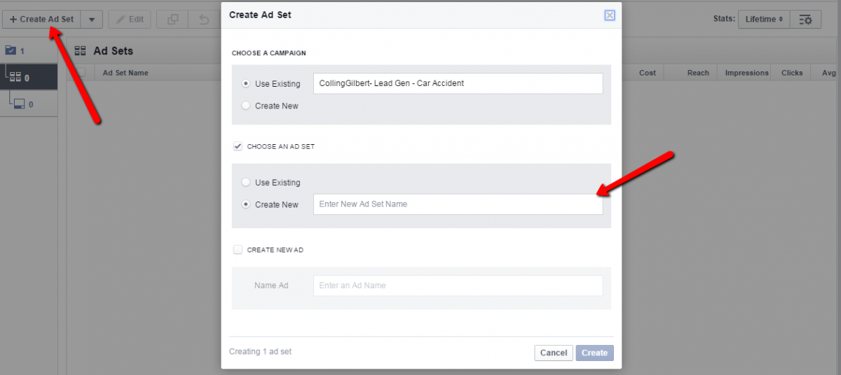 Creating a Facebook Lead Gen Ad - Step 2