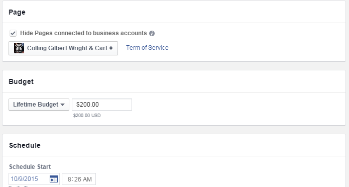 Creating a Facebook Lead Gen Ad - Step 3