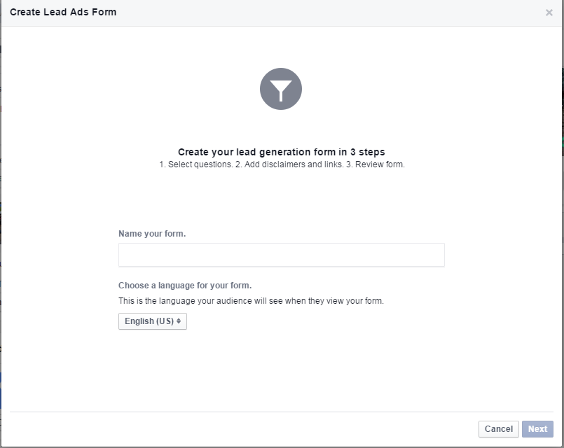 Creating a Facebook Lead Gen Ad - Step 5