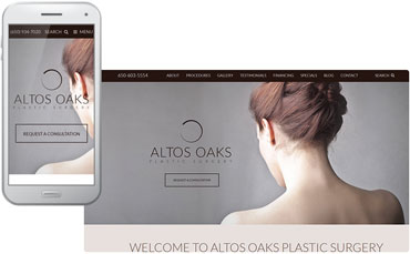 Altos Oaks Plastic Surgery - redesigned website