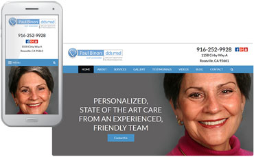 Paul P. Binon dentist website design