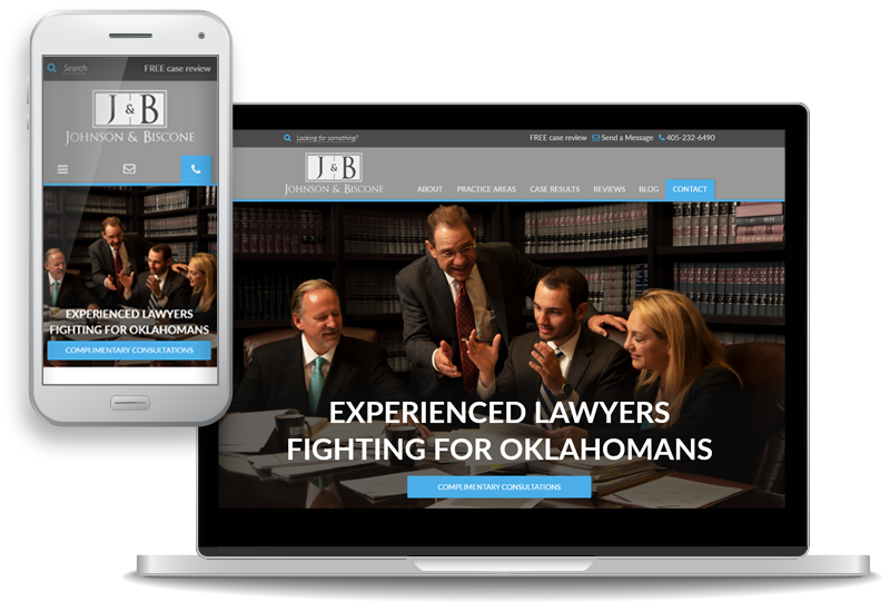 custom website design for Johnson & Biscone, P.A. - mobile-first
