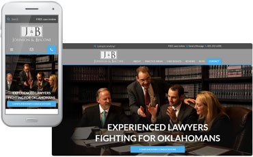 Johnson & Biscone Law Firm - New legal website design