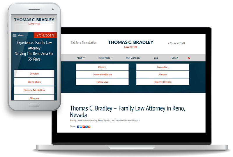 custom website redesign and content update for the Law Office of Thomas C. Bradley