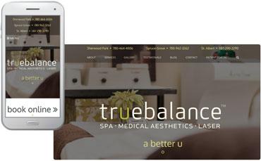 True Balance Longevity Institute - new cosmetic site design