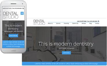 Dental Studio custom website design