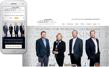 Frickey Law Firm - New lawyer website design