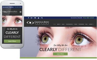 Griffin & Reed Eye Care - Lasik surgeon website redesign
