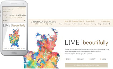 Grossman | Capraro Plastic Surgery - new website design