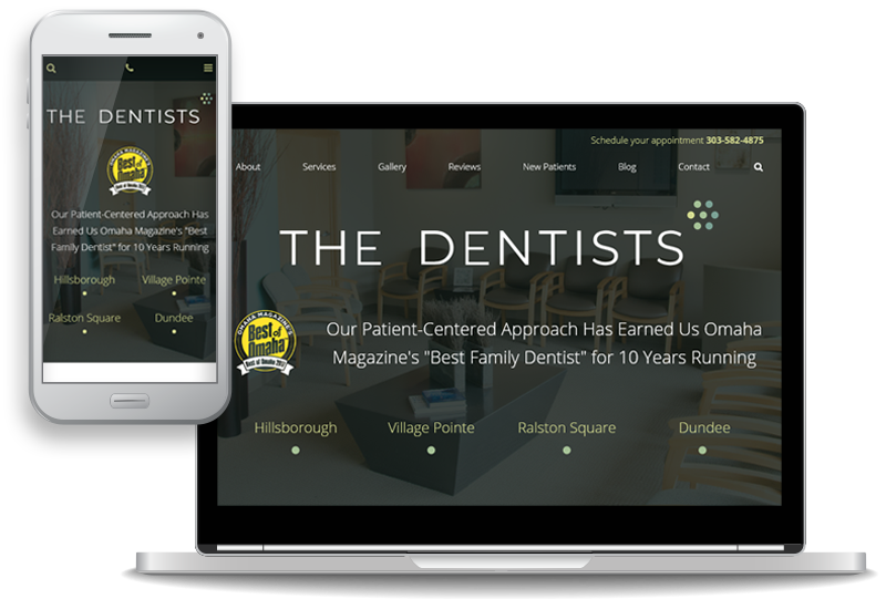 The Dentist - custom website design for dental offices in Omaha, Nebraska