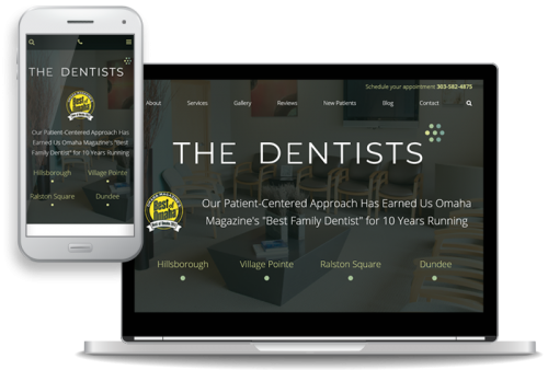 custom, mobile-first website design for dentists