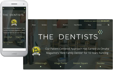 The Dentists new website redesign