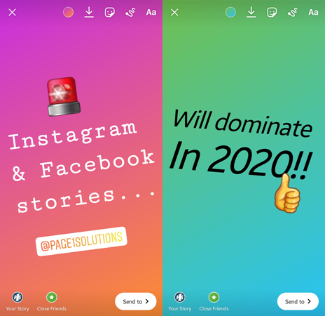 Instagram and Facebook Stories will dominate in 2020 | Page 1 Solutions